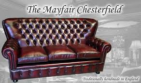 mayfair 3 seat high back chesterfield sofa in the antique red leather
