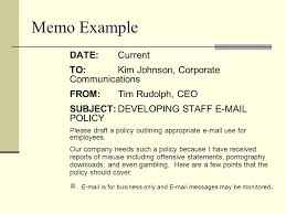 Persuasive Memo Examples Business Writing Resume Writing Cover Letters Memos S Letters