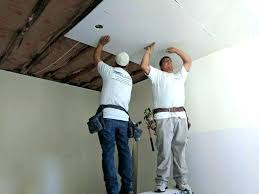 repair holes in ceiling large hole plasterboard fix from water damage ho
