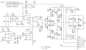 full set of schematic diagrams for promedia 2 1 system schematic diagram of lf subwoofer amplifier board 2 1 lf amp 708x409 gif