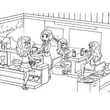 Lego Friend Coloring Pages Friends Printable Coloring Pages Friends