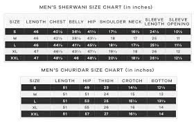 Churidar Measurement Chart Measurement Chart Mens Wear Lashkaraa