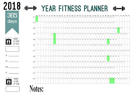 2018 Weight Chart 2018 Maxi Size Year Calendar Planner 365 Day Fitness Record