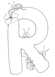 8511 Illustrated Floral R Coloring Page Pages Letters For 5