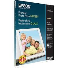 "<b>Epson</b> Premium <b>Glossy</b> Photo <b>Paper</b>, 8-1/2"" x 11"", 50-Pack 