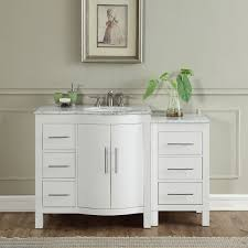 54 Bathroom Vanity Cabinet 54 Inch Single Sink Contemporary Bathroom Vanity White Finish