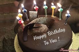 amazing happy birthday cake with candles