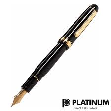 Platinum #3776 Century <b>Music</b> Black in Black <b>Fountain Pen</b> PNBM ...