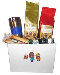 java bean character gift basket