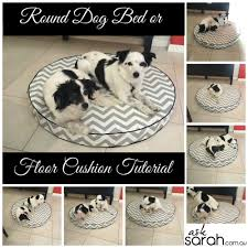 sew round dog bed or floor cushion tutorial foam filled w side gussets