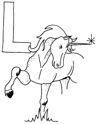 Coloriage L Comme Licorne Laurence