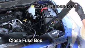 blown fuse check dodge ram dodge ram  6 replace cover secure the cover and test component