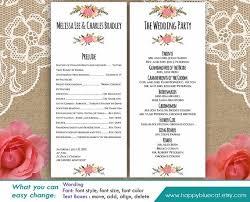 Wedding Template Microsoft Word Diy Printable Program Wedding Template Instant Download