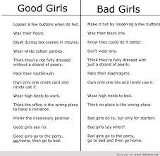 Good Girl Quotes Beauteous Good And Bad Girls