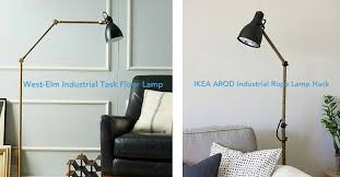 ikea floor lighting. West Elm-Inspired IKEA AROD Lamp Hack Ikea Floor Lighting
