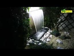 Ubbink <b>stainless steel</b> waterfall Niagara 60 <b>LED</b> - YouTube