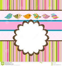 Template Birthday Greeting Card Stock Vector - Illustration Of ...