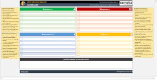 Competitor Analysis Template Xls Swot Analysis Template