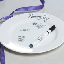 naming day signature plate image