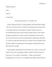 just walk on by essay jake chao chao mr hodges ap language and  3 pages just walk on by analysis
