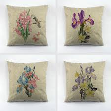 Throw Pillow Cover Designs Us 4 88 Decorative Throw Pillow Cover Orchid Linen Cushion Cover Oli Printing Design Throw Pillows Cover For Couch Sofa Pillowcase In Cushion Cover