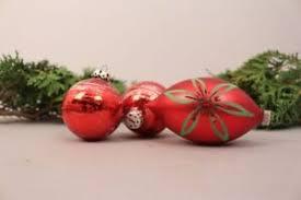 Details Zu Christbaumschmuck Weihnachtskugeln Tropfen Rot Alt Mundgeblasen Weihnachten Deko