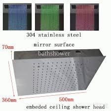 luxury idea flush ceiling mounted rain shower head mount heads