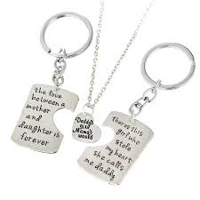 whole family necklaces dad mother daughter pendant necklace keychain family mother s day father s day keyring gift jewelry father mom necklaces gold