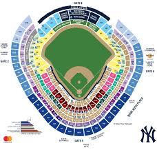 Yankees Baseball Seating Map At The Yankee Stadium