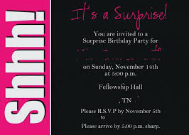 Birthday Invitation Template Printable Simple Invitation Free Printable Surprise Party Invitation Templates