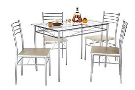 dining room sets co uk. vecelo glass dining room table sets and 4 chairs - silver co uk t