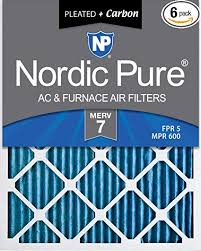 Fpr Rating Chart Nordic Pure 14x20x1 Merv 7 Plus Carbon Ac Furnace Air Filters Qty 6