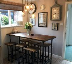breakfast bars furniture. Breakfast Bar Table With Stools High Gas Pipe Kitchen Reclaimed Scaffold In Home . Bars Furniture A