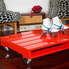 painted pallet furniture. high gloss pallet on rollers such an updated u0026 fresh take all the furniture out there painted f