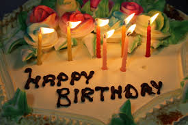 birthday cake with candles image from goodfreephotos