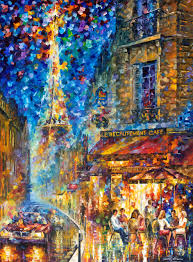 paris recruitment cafe 2 original oil painting on canvas by leonid afremov 40