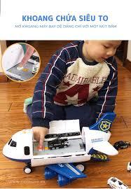 Bộ máy bay đồ chơi khổng lồ kèm 6 xe kim loại STORAGE AIRCRAFT cho bé 2-5  tuổi – Kidsmove - Thế giới xe của bé
