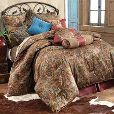brown king comforter set paisley ralph lauren new bohemian