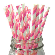 Striped Paper Straws Lanterns And More