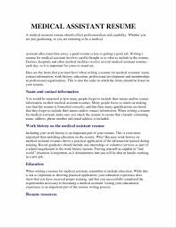 Medical Assistant Resume Templates resume templates medical assistant medical assistant resume 33