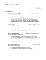 Health Care Account Manager Resume Sample For Job Applicants
