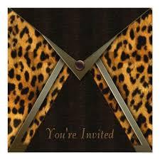 Leopard Party Invitation Template Leopard Print Birthday Theme