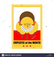 Employee Of The Month Photo Frame Employee Of Month Best Worker Portrait In Frame On Wall Vector
