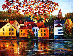 where i grew up palette knife oil painting on canvas by leonid afremov size
