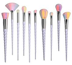 unicorn brush set. nestling 10pcs unicorn makeup brush set professional foundation powder cream blush kits h