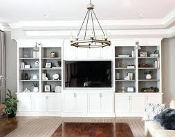 Wall cabinets living room furniture Luxury Cabinets Living Room Well Appointed Features White Built In Shelving Unit Fitted To Gray Walls Gorodovoy Cabinets Living Room Gorodovoy