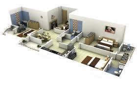3 bedroom floor plans. Contemporary Bedroom 3 Bedroom House Plans Single Floor 3d D S  Story With Bedroom Floor Plans
