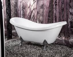 two slipper claw foot classical bathtubs