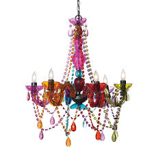 pretty multi color chandelier colored gypsy magneticystals blown glass acrylic