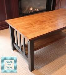 Mission Style Coffee Table Makeover Pictures